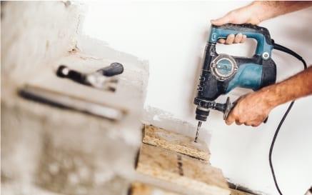 renovations and maintenance action shot