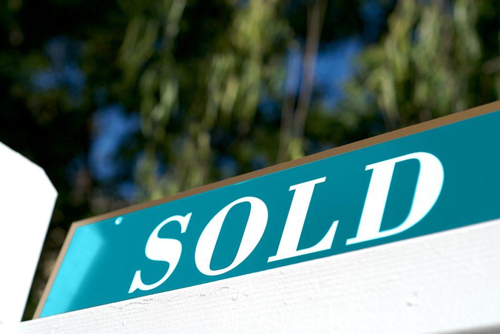 sold sign for edmonton realty for tilt property group